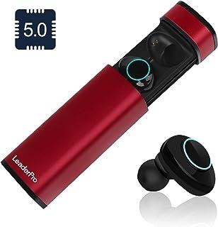 2d550dddc88 LeaderPro Auriculares In-Ear Mini Auriculares Bluetooth Inalámbricos TWS  5.0 CVC 6.0 con Micrófono y