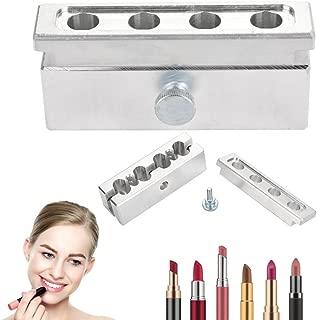 DIY Lipstick Tool, Aluminum Alloy Lip Balm Mold Holder Cosmetic Lipstick Making Kits Lip Gloss Balm Fill Maker Molding Tools(#1)