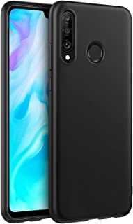 Huawei P30 Lite TPU Silicone Back Case Cover Black For P30 Lite
