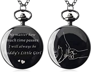 Samuel Pocket Watch with Chain Necklace for Men to My Husband from Wife for Him
