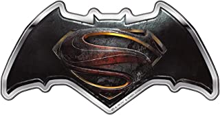 Fan Emblems Batman v Superman: Dawn of Justice Logo Car Decal Domed/Multicolor/Chrome Finish, DC Comics BvS Automotive Emblem Sticker Applies Easily to Cars, Motorcycles, Laptops, Cellphones, etc