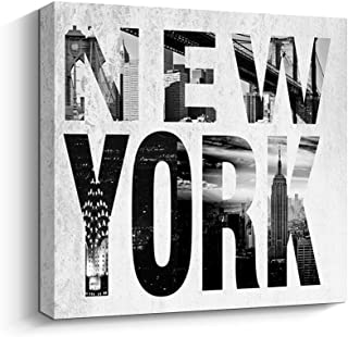 Pinetree Art Quotes Wall Decor New York City Gallery Wrap Canvas Giclee Print Artwork (12