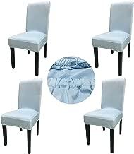غطاء كرسي غرفة الطعام القابل للتمدد والغسيل من نسيج سباندكس من شركة Gold Fortune مجموعة من 4 أغطية