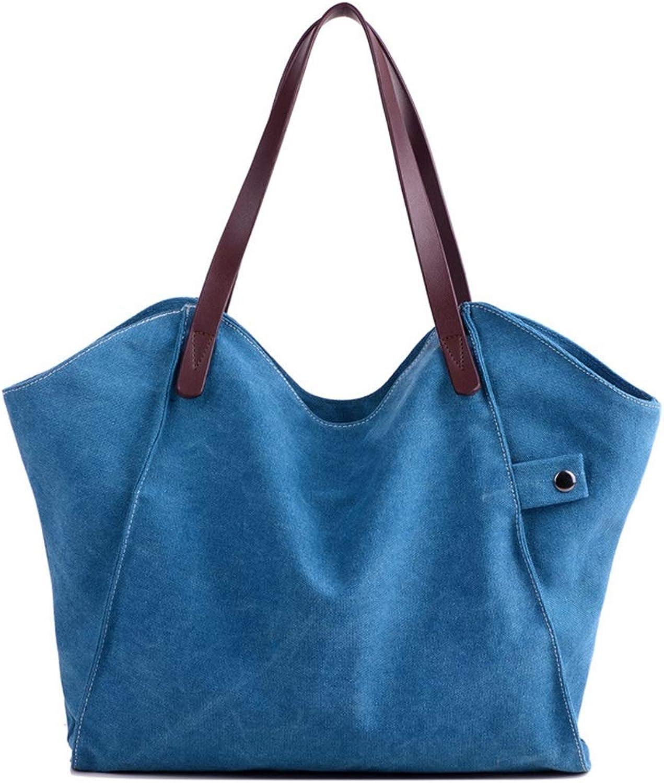 MAGAI Freizeit Retro große Kapazität Reine Tote Bag Canvas Tote Bag (Farbe   Blau) B07NNPYMML  Die Farbe ist sehr auffällig