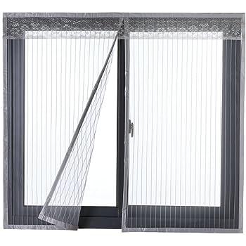 Icegrey Fliegengitter Tur Fenster Insektenschutz Magnet Fliegenvorhang Fur Schiebefenster Dachfenster 90x120 Cm Grau Amazon De Baumarkt
