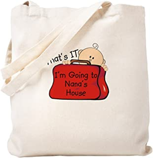 CafePress Going To Nana's Funny Natural Canvas Tote Bag, Reusable Shopping Bag