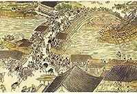 DSJHK パズルジグソー1000ピースパズル風景大人キッズミニ木製ジグソー家族の再会ゲームパズル/青明川地図