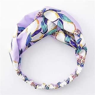 1 Pc Headbands For Girls Woman Soft Fabric Swan Pattern Design Hair Bands Hoop Cloth Knot Head Bands,Purple