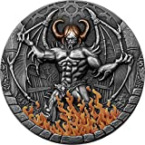 Power Coin Beelzebub 2 Oz Moneda Plata 2000 Francos Cameroon 2021