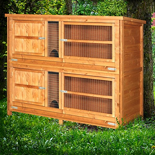 4ft Chartwell 2 Tier Rabbit Hutch | Perfect for keeping Rabbits and Guinea Pigs separate | Outdoor & Indoor Rabbit Hutch for 2 Rabbits Or Guinea Pigs | The Biggest 4ft Hutch On Amazon