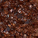 Duluth Forge 1/4 in. Premium Reflective Copper Fire Glass - 10 lb. Bag Fire Pit Glass 14RCOGM