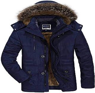 CFWL Cappotto Invernale da Uomo di Media Lunghezza più Cappotto di Lavaggio Addensato in Velluto Cappotto da Uomo di Grand...