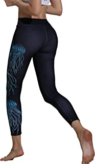 Helisopus Women's Printed Fit Compression Yoga Pants Power Stretch Active Workout Leggings Tights