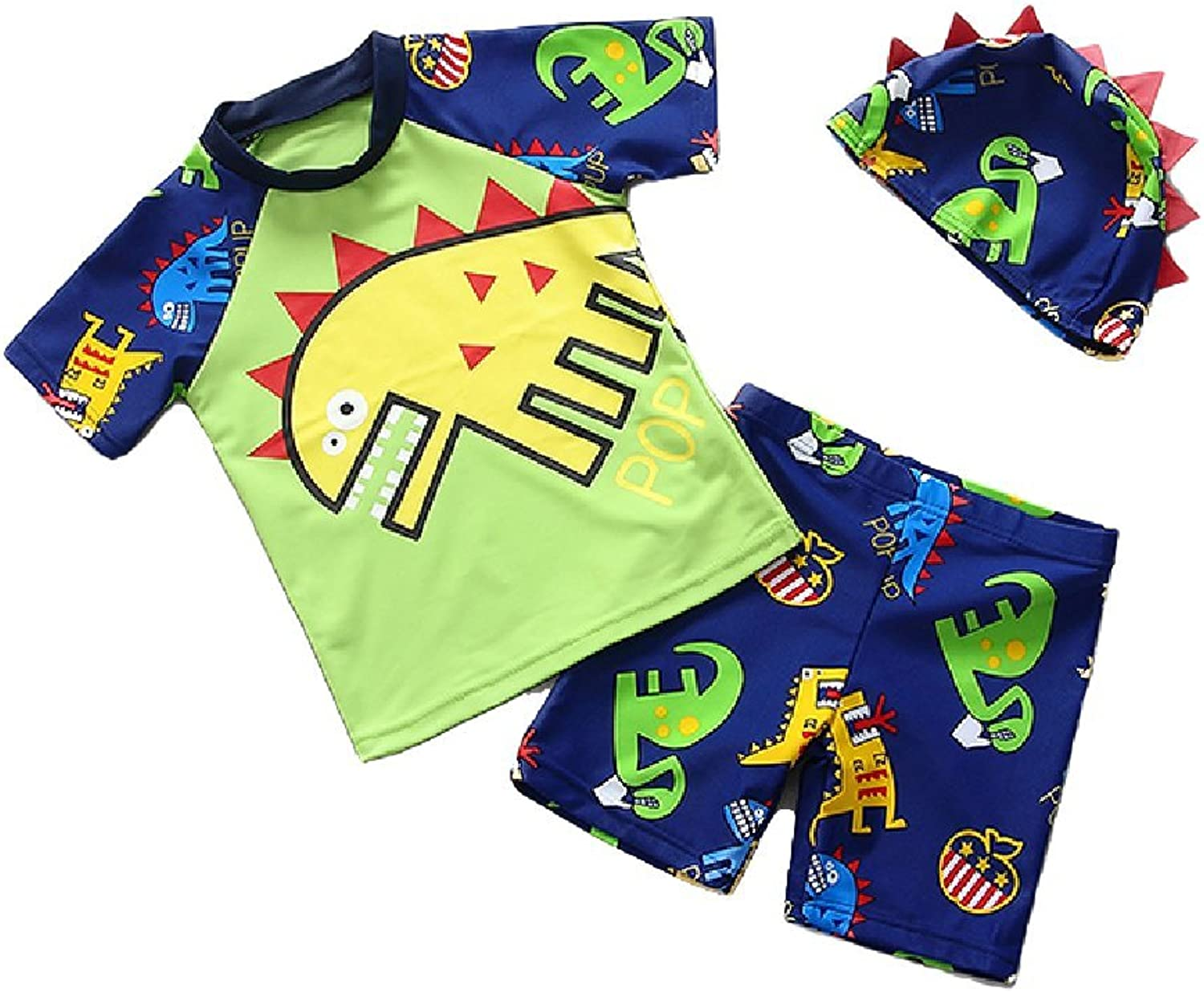 Tingping Infant Boy's UPF 50+ Sunsuit Two Pieces Rashguard with Cap