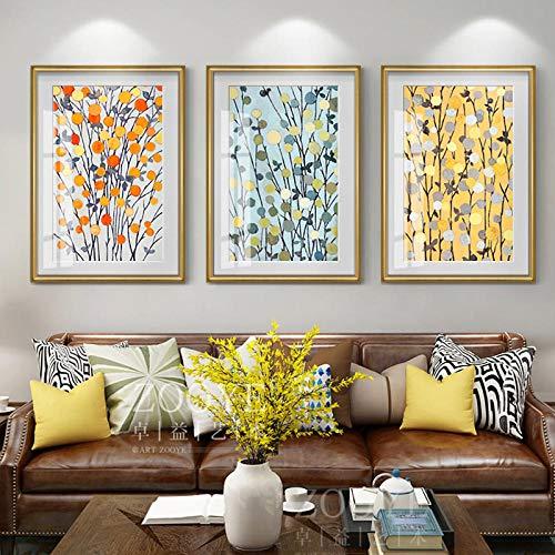 NOBRAND Estilo Europeo Temporada de Cosecha de Frutas y Verduras Decoración de Lienzo HD Poster Print para Sala de Estar Comedor Imagen de Arte Abstracto de la Pared Sin marco-40x60cmX3