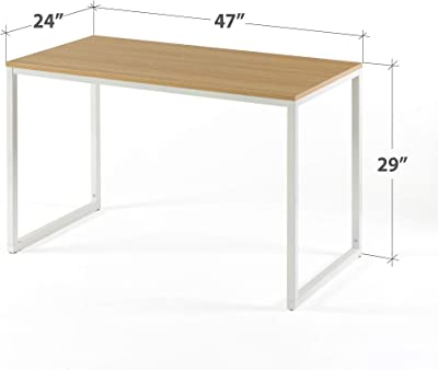 Zinus Table, White, 47 inch