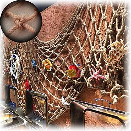 WWWANG Red de decoración, grosor de la cuerda 4 mm segregación de carga decorativa neta de camión cubierta escaleras barandilla neta segura, personalizable Equipo de protección, fuerza bruta y decorac