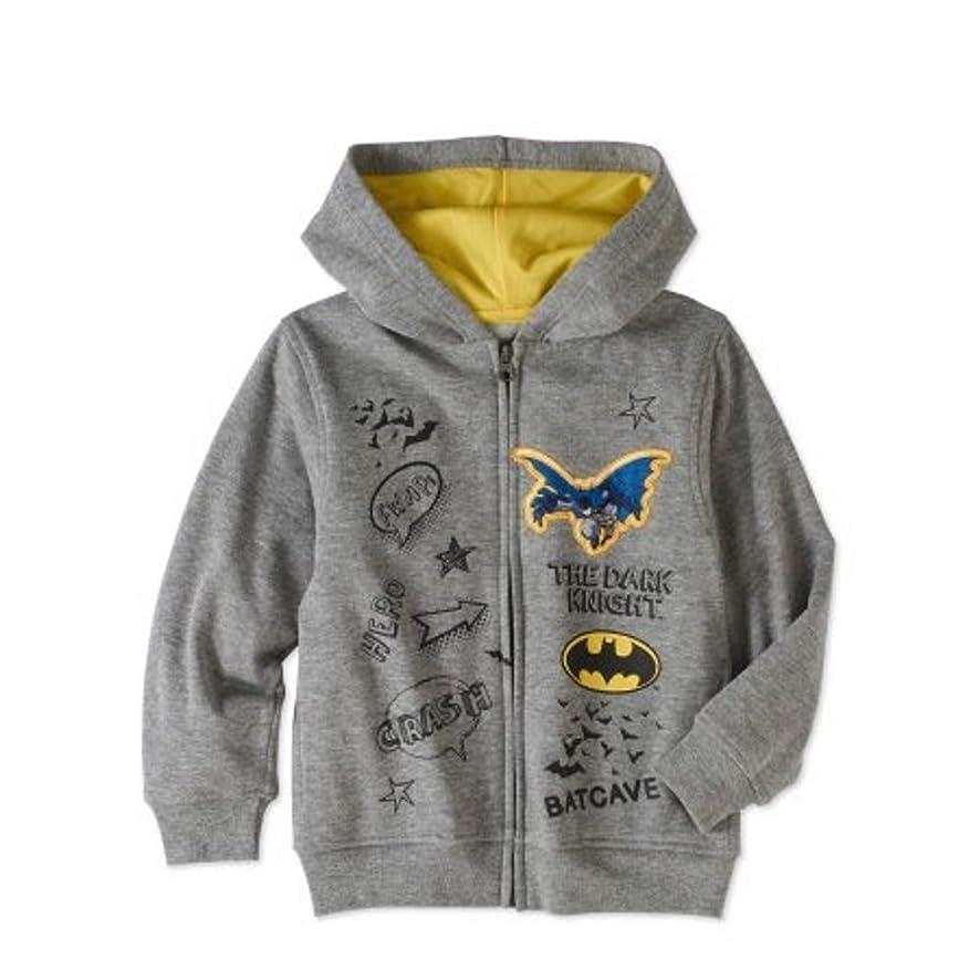 boy Toddler Batman Little Zip up Front Hoodie Size 7