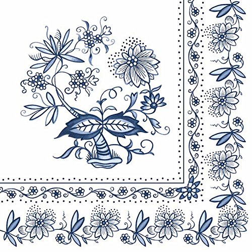 Ambiente Cena Tovaglioli/Partito ca.33x33 Blue Onion - Perfetto Come Regalo