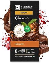 Ketofy - Hazelnut Keto Chocolate (50g)   Hazelnut Rich Unsweetened Dark Chocolate   No Maltitol   Gluten Free