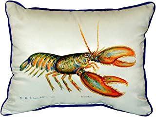 "Betsy Drake SN081 Lobster Small Indoor/Outdoor Pillow, 11"" x14"""