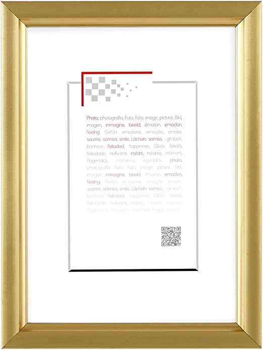 Cadre photo Doré 20x30 cm marque française Résine plastique