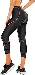 4ucycling Women 3D Padded Bike Pants Women Cycling Biking Shorts,UPF 50 Women's Running Pants, Women's Capri Bike Tights