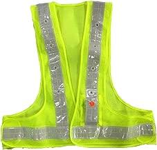 AidrPro LED Light Safety Vest with Reflective Stripes - Green