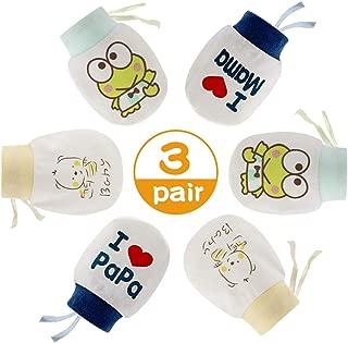 DecBaby Set Cappellini e AntiGraffio Guanti per Prima Infanzia Accessori per Bambini 0 a 3 Mesi 2* Berrettini e 2* Muffole Neonato