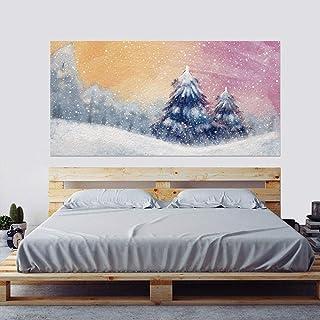 Mural Foto Papel Pintado Fantasía Cedro Bosque 45x180cm X2 Mesita Pegatinas Mural Decoración Póster Diseño Moderno