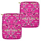 Yoobi | Document Organizer | Large | Mirrored Icons | Pink Multicolor | 2 Pack