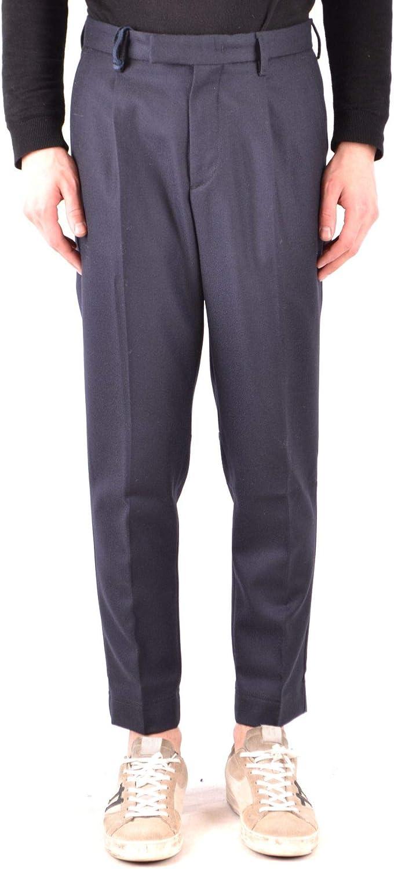 MONCLER Men's MCBI37881 blueee Wool Pants