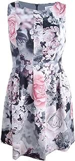 Women's Floral-Print Fit & Flare Dress