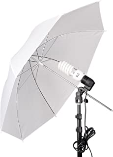 Emart Umbrella Lighting Kit for Photography Studio, 200W 5500K Photo Light Reflector for Video Lighting, Continuous Lighting, Camera Portrait Shooting Daylight