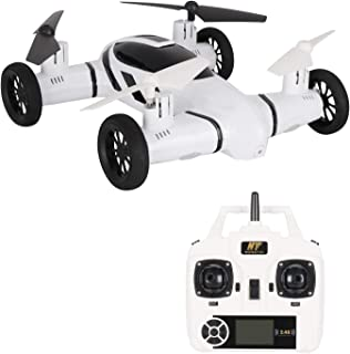 Drone for Kids Flying Remote Control Car Ground 2 in 1 Headless Mode 3D Flip Led Light Bonus Battery