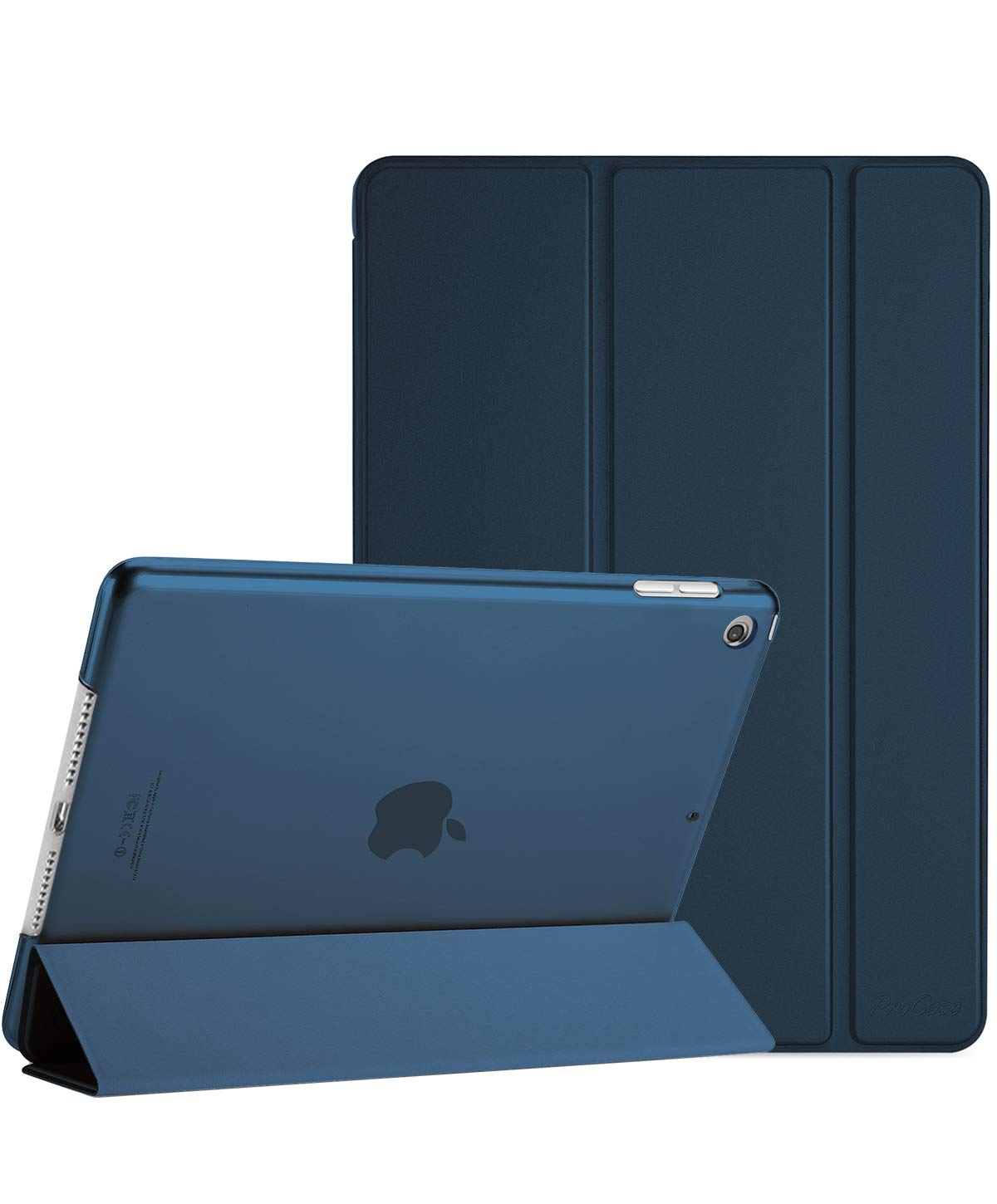 ProCase iPad Mini 5 Case 5th Generation iPad Mini 2019, Slim Lightweight Stand Protective Case Translucent Frosted Shell Smart Cover for 2019 Apple iPad Mini 5 7.9 Inch –Navy