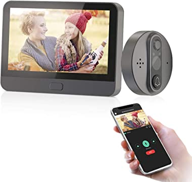 """Jeatone 4.3""""TFT LCD Screen Digital Door Peephole Viewer Camera HD 720P Night Vision 100° Wide Angle Front Door Viewer Camera"""