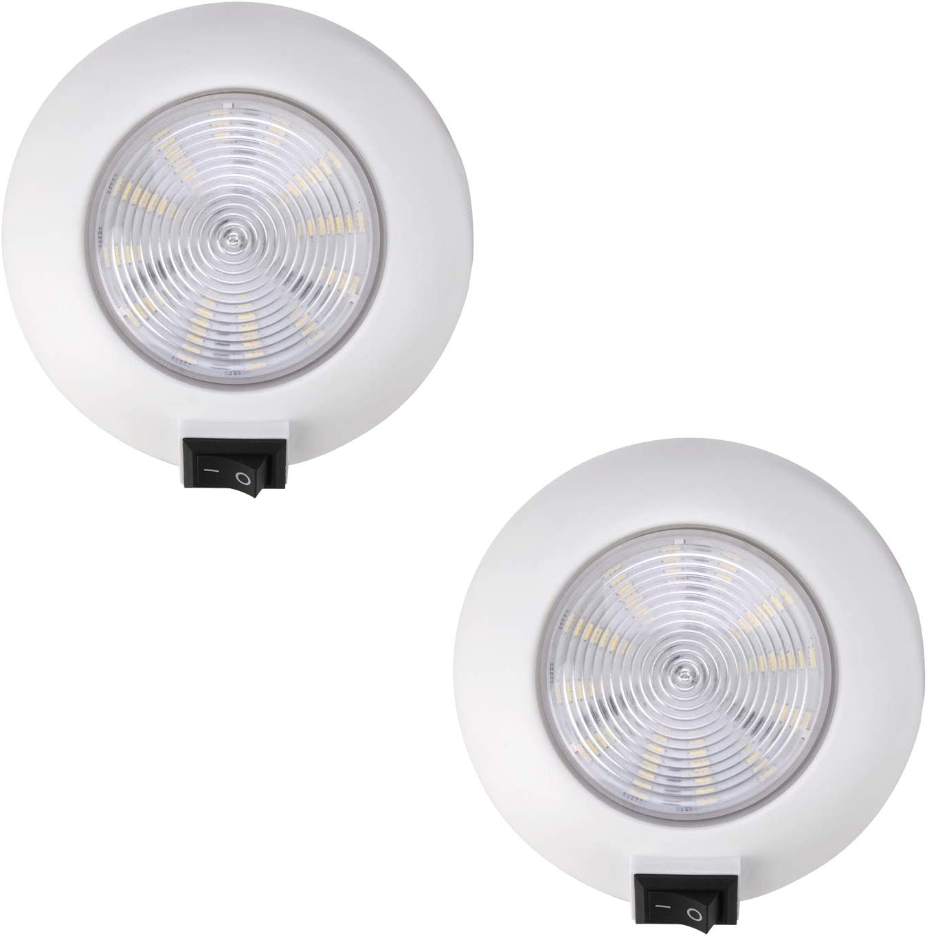 ANYPOWK 12 Volt LED Puck Light 4'' Ranking TOP20 with Super beauty product restock quality top 3W 4500K Switch Neutral