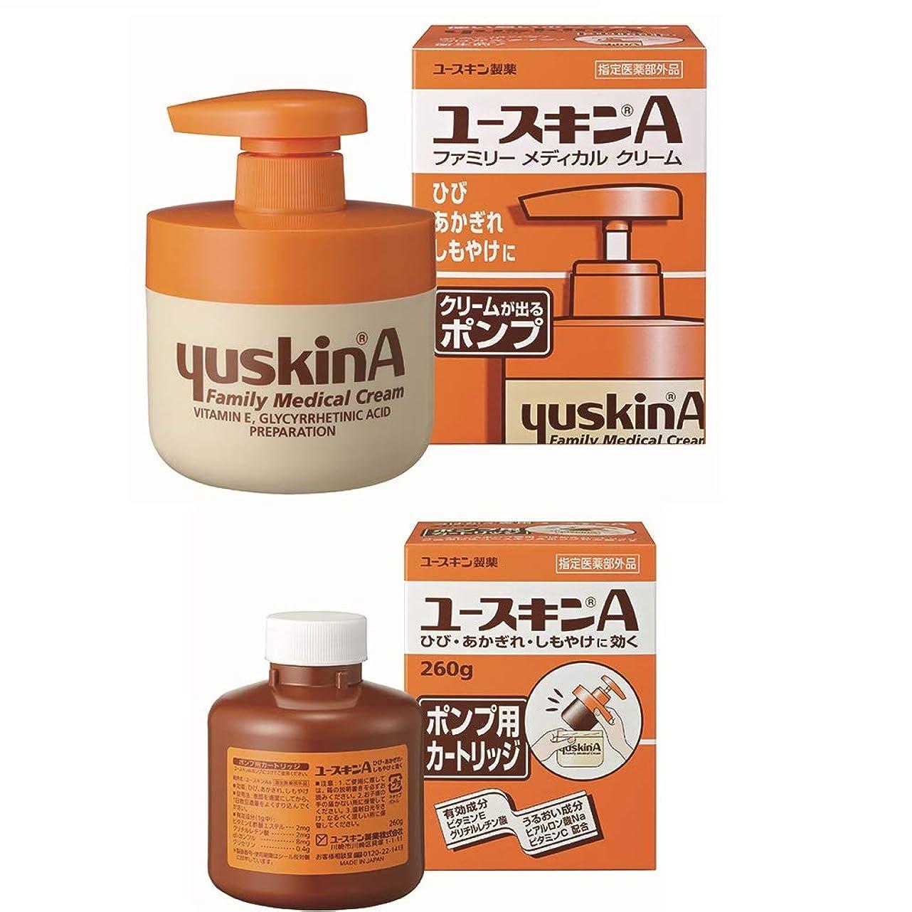 前投薬グレード不格好【セット品】ユースキンA ポンプ 260g+A ポンプ用カートリッジ