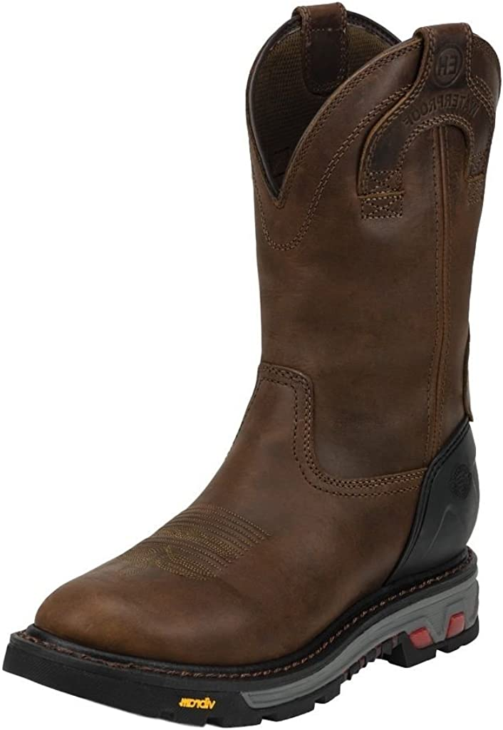 Justin Mens Wyoming WP Pull On Work Boots