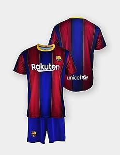 Set shirt en broek replica FC. Barcelona 1. EQ seizoen 2020-21, gelicentieerd product, gladde rug, 100% polyester, maat