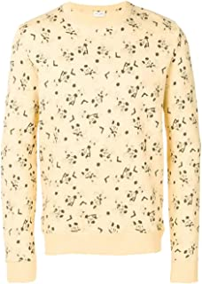 SAINT LAURENT Luxury Fashion Mens 588128YBLC27250 Yellow Sweatshirt | Fall Winter 19