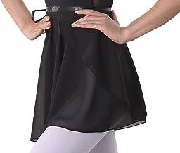 woosun Adult Ladies Ballet Wrap Over Scarf Dance Leotard Skate Tutu Skirt Chiffon 38cm