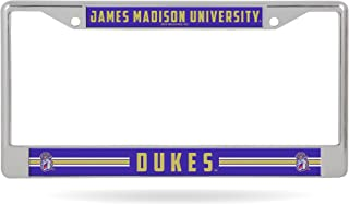 James Madison Dukes JMU LBL Chrome Frame Metal License Plate Cover University