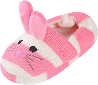 children's knitted animal slippers