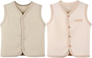 ThreeH Baby Warm Vest Cotton Unisex Infant Toddler Waistcoat BR06(Pack of 2)