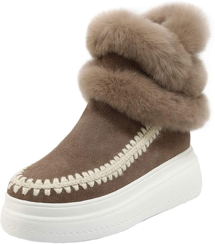 DeANJIE donna Sautoponi Snow Cunei Tacco Cerniere Caviglia Stivali Donna Inverno Caldo Faux Peluche High-Top Sautope per Esterni 2018