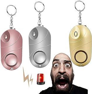 Zelfverdediging Alarm Sleutelhanger Set Persoonlijke Veilig Geluid Alarm Sleutelhanger met Pin led Lights, Noodveiligheid ...