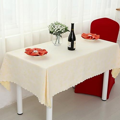 Qiao jin Tischdecke Rechteckige Tischdecken Hotel Couchtisch Tischdecke - (VC1333) (Farbe   D, Größe   180180cm)