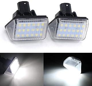 2pcs Auto 18 LED Kennzeichenbeleuchtung Nummernschildbeleuchtun Licht für M azda 6 2003 2008, CX 5 2013 2014 , CX 7 2007 2012 , Speed 6 2006 2007, 12V Bright Weiß Lampen Leuchtmittel